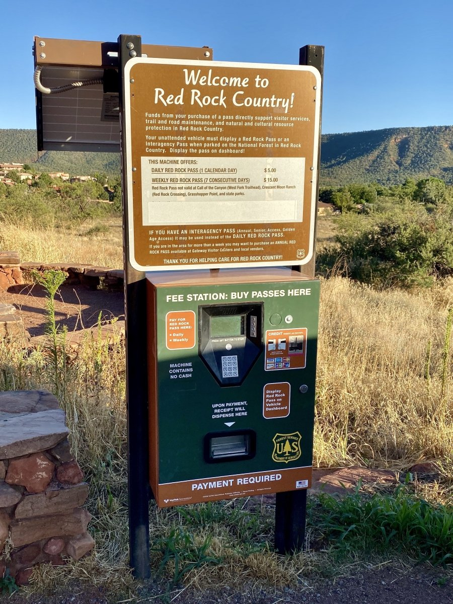 Red Rock Scenic Byway fee station - 3 Stunning Sedona Scenic Drives