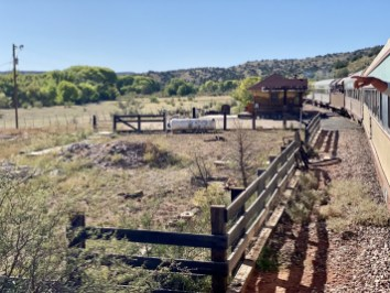 Perkinsville corral - Ride Arizona's Verde Canyon Railroad