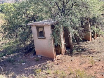 Perkinsville outhouses - Ride Arizona's Verde Canyon Railroad