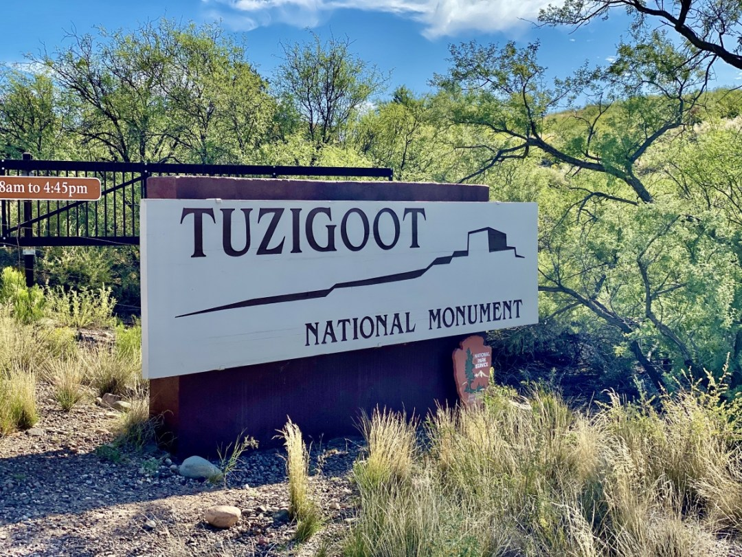 Tuzigoot Natonal Monument sign - 7+ Amazing Attractions in Verde Valley AZ
