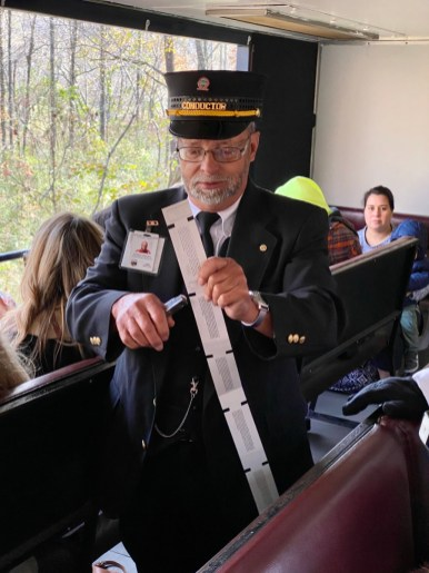Blue Ridge Scenic Railway conductor - Hop a Scenic Mountain Train in Blue Ridge, Georgia