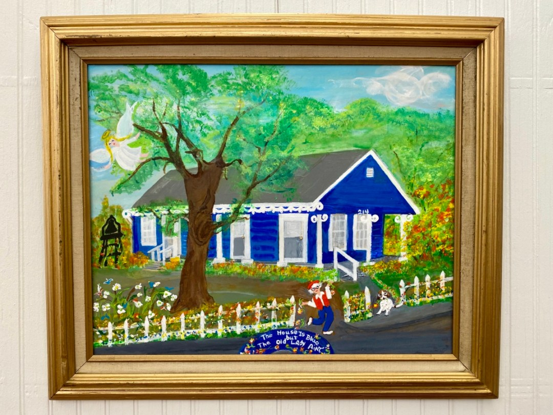 Alice Moseley The House is Blue painting - Meet Three Unconventional Coastal Mississippi Artists