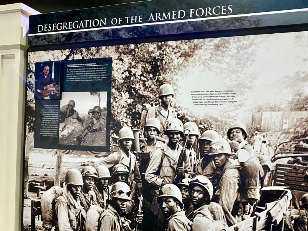 Armed Forces Desegregation panel - Visit the Mississippi Armed Forces Museum at Camp Shelby