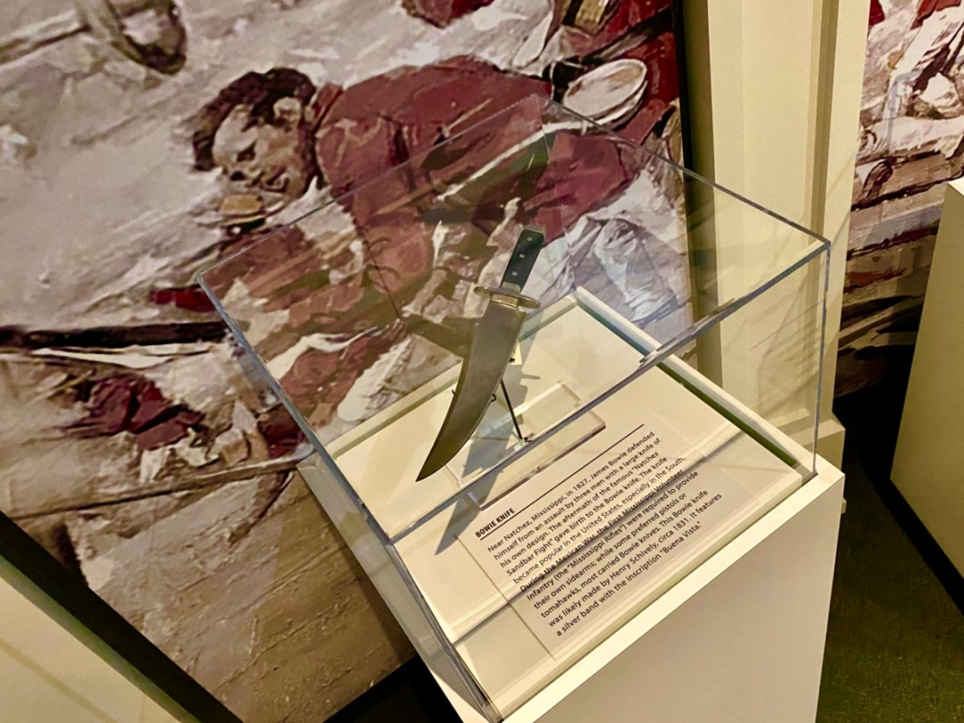 Bowie knife - Visit the Mississippi Armed Forces Museum at Camp Shelby