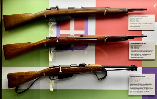 Italian Carcano carbine rifles - Visit the Mississippi Armed Forces Museum at Camp Shelby