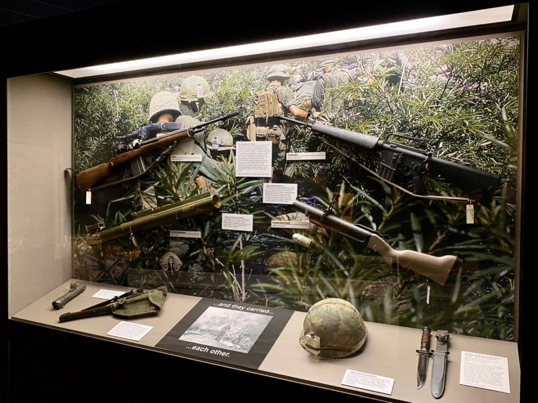 Vietnam Things They Carried exhibit - Visit the Mississippi Armed Forces Museum at Camp Shelby