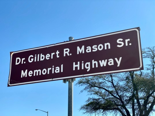 Gilbert Mason Highway sign - Discover Coastal Mississippi's African American Heritage