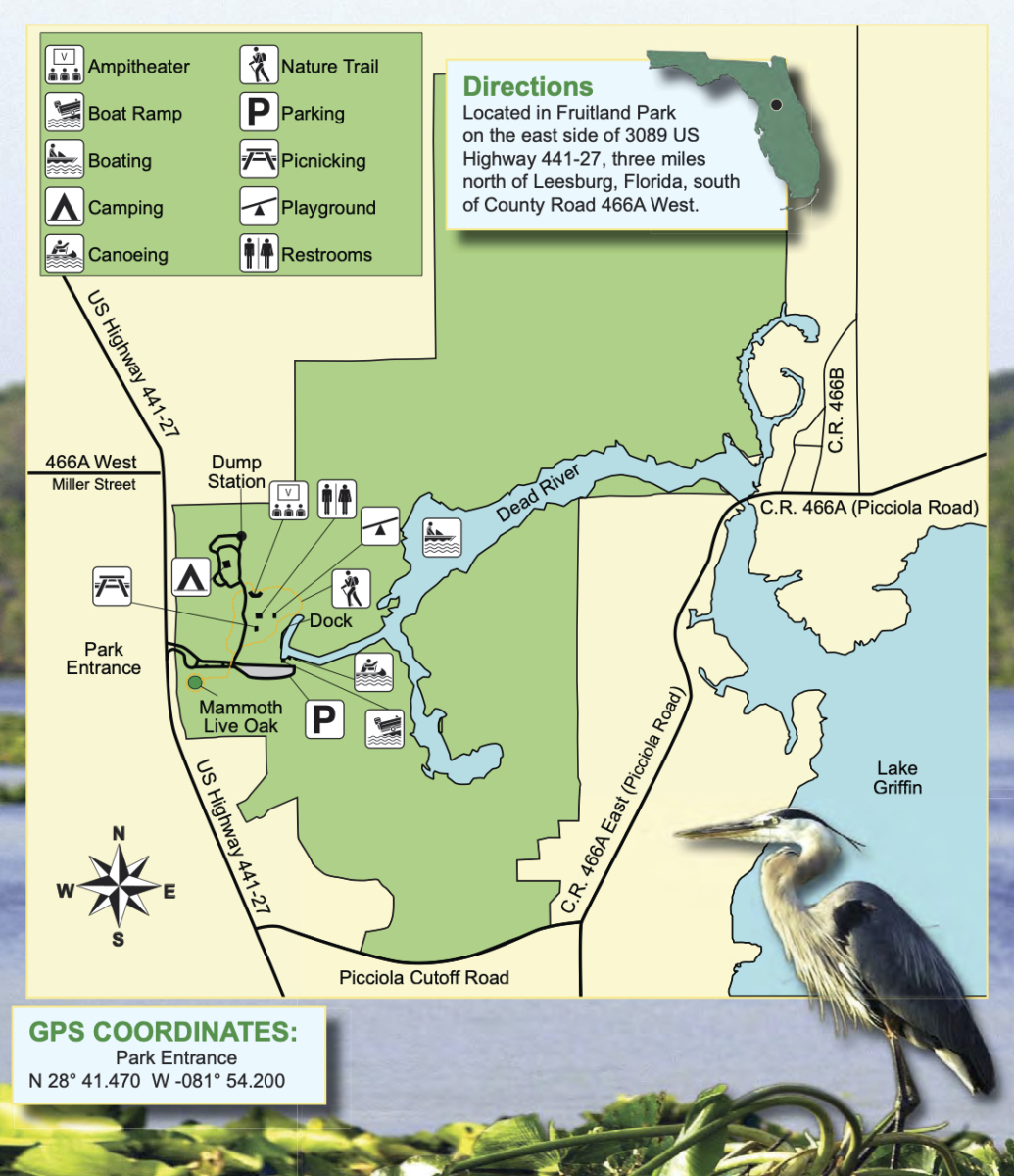 Lake Griffin State Park map - Discover Lake County Florida Outdoor Adventures