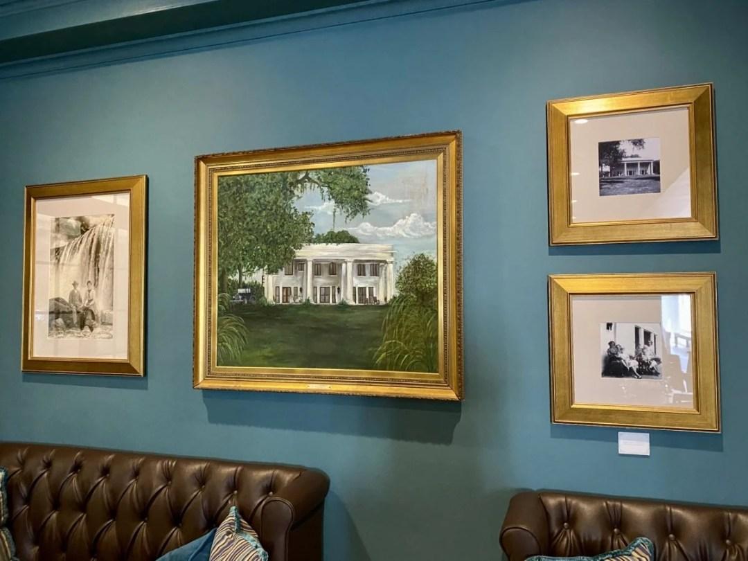 White Pillars framed art - 18 Favorite Mississippi Gulf Coast Restaurants