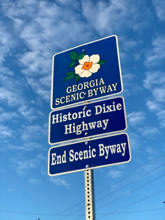 Georgia Scenic Byway sign - Encounter Historic Quail Hunt Plantations in Thomasville GA