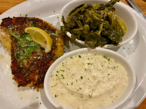Jonahs Thomasville fish grits greens - Encounter Historic Quail Hunt Plantations in Thomasville GA