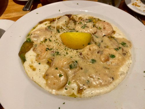 Jonahs Thomasville shrimp grits - Encounter Historic Quail Hunt Plantations in Thomasville GA