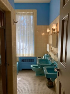 Pebble Hill blue suite shared bathroom - Encounter Historic Quail Hunt Plantations in Thomasville GA
