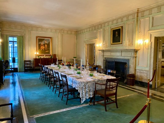 Pebble Hill formal dining room - Encounter Historic Quail Hunt Plantations in Thomasville GA