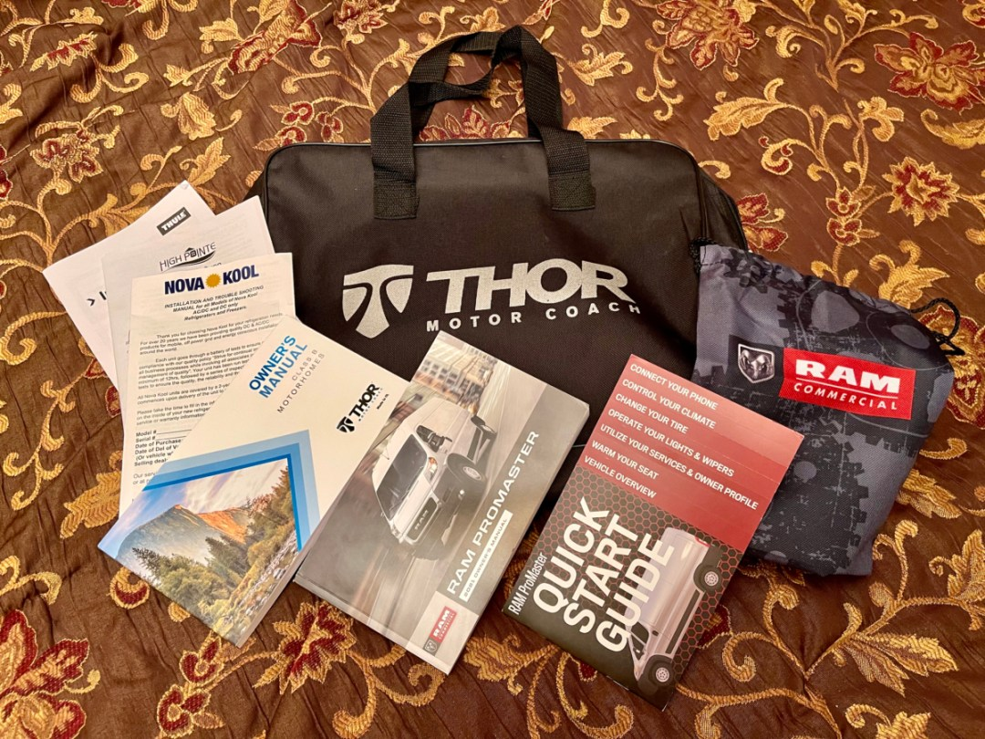 Thor Sequence manuals - A Guide for Buying a Camper Van: My Story & Lessons Learned