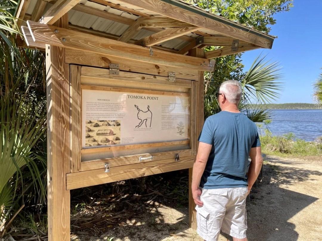Tomoka State Park history kiosk - Florida's Tomoka State Park Camping, Recreation & History