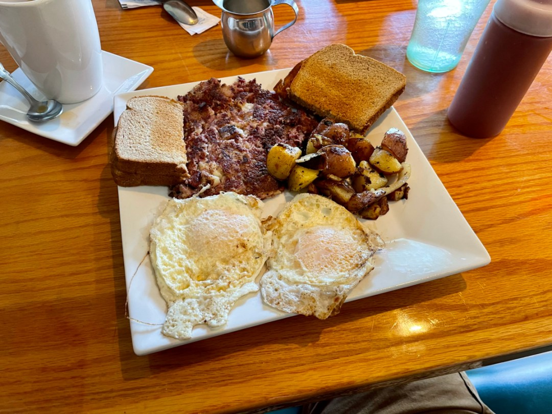 The ROCK corned beef breakfast - Discover Florida's Blue Spring State Park & Campground