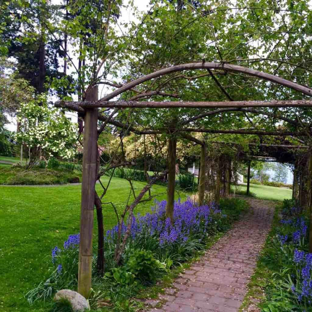 A walking path in Chetzemoka Park in Port Townsend, WA