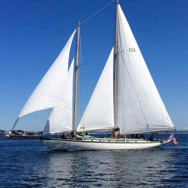 schooner at the wooden boat festival in Port Townsend