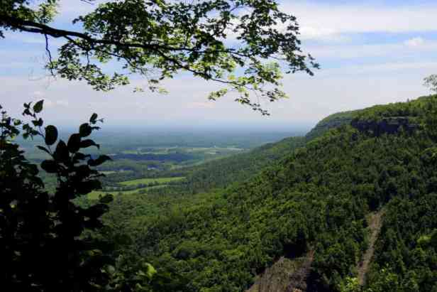The view from top of the trail