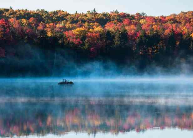 Fall Camping in New England - Woodford State Park
