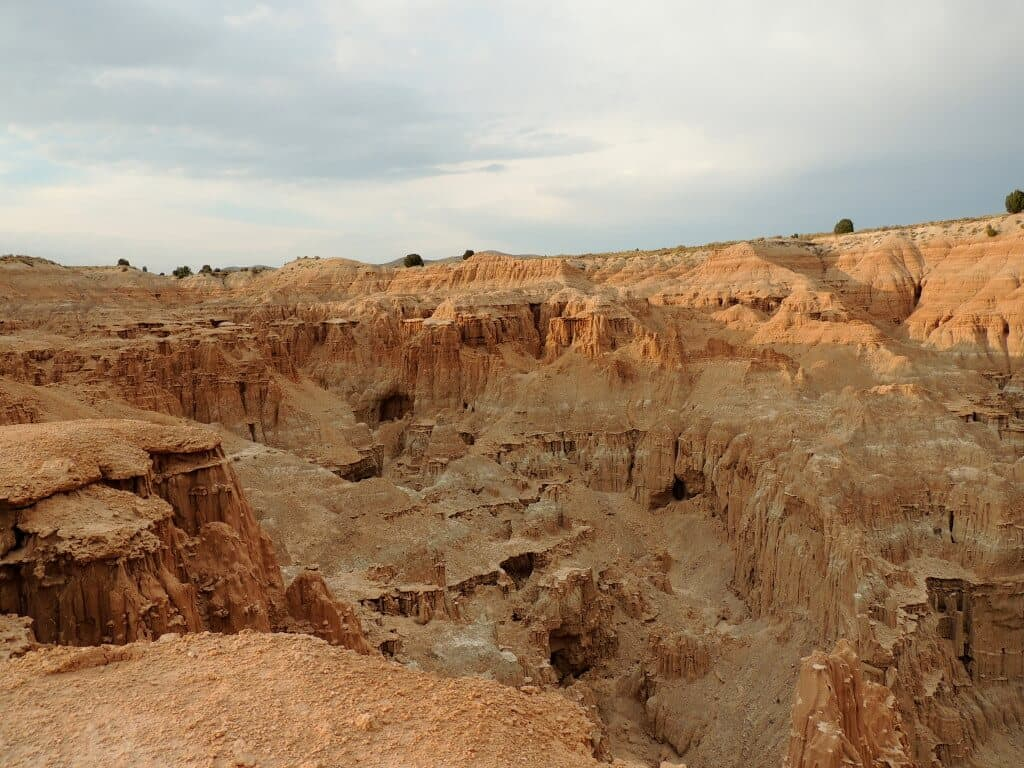 The view from the overlook at Cathedral Gorge State Park