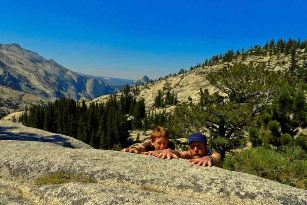 An overlook in Yosemite National Park