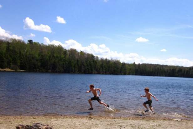 Swimming in Woodford State Park