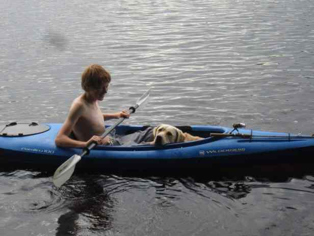 paddling with your dog