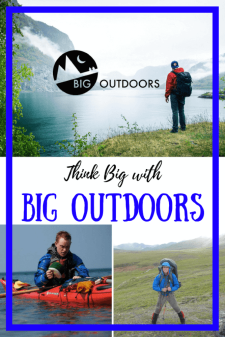 Introducing Big Outdoors - a small, online gear company that specializes in small and up-and-coming outdoor brands. Use the code to get 20% anything from their website.
