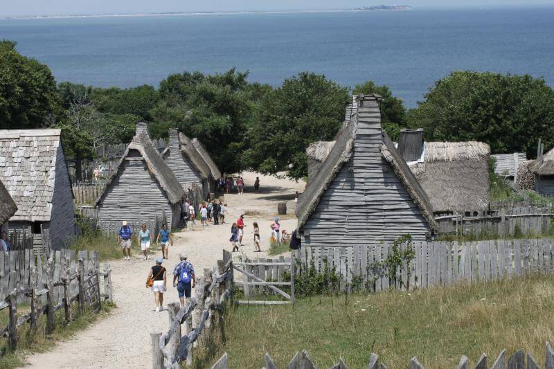 A scene at Plimoth Plantation, a living history museum in Plymouth, Massachusetts