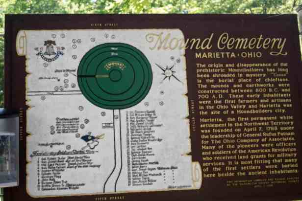 Mound Cemetery Sign