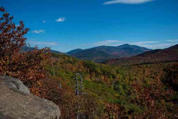 The view from the top of Owl's Head in Keene