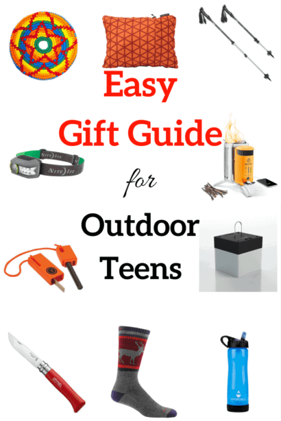 Perfect little gifts for teens who love the outdoors. #giftguide #camping #hiking