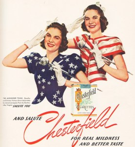 Salute Chesterfield Cigarettes Magnet