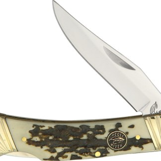 Lockback Stag Bone Resin Knife