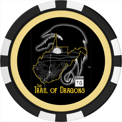 THE TRAIL OF DRAGONS POKER CHIP