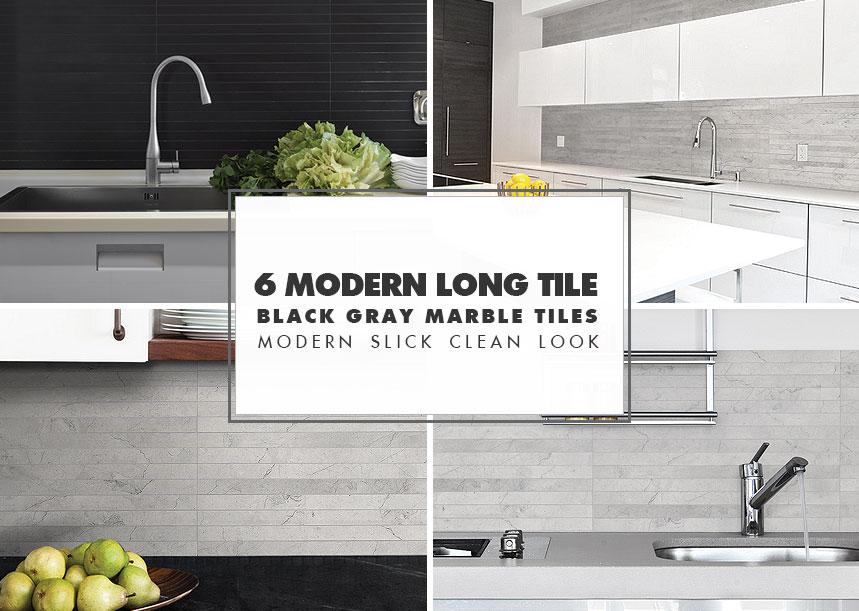 Modern Kitchen Backsplash Ideas-black Gray