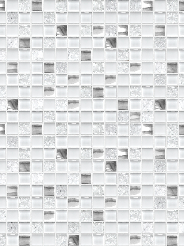 White Gray Glass Metal Kitchen Backsplash BA1183