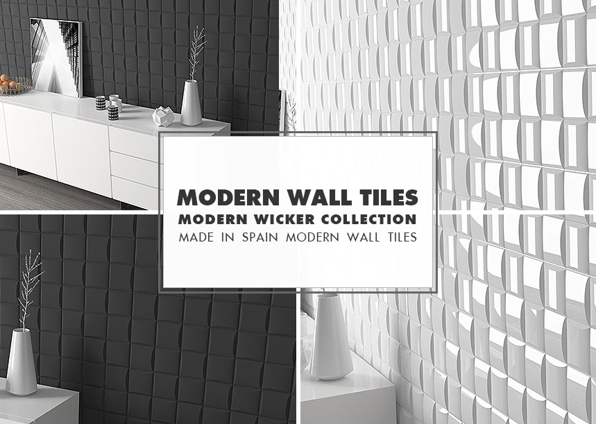 MODERN WALL TILE IDEAS Wicker Collection Porcelain Tiles