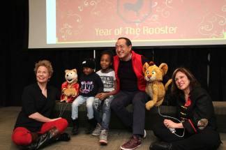 Jennifer Barnhart, Alan Muraoka and Pam Arciero with friends. Photo by Lia Chang