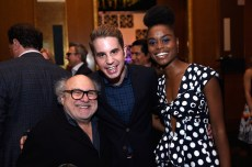 NEW YORK, NY - JUNE 05: (L-R) Danny Devito, Ben Platt and Denee Benton attends the Tony Honors Cocktail Party Presenting The 2017 Tony Honors For Excellence In The Theatre And Honoring The 2017 Special Award Recipients - Arrivals at Sofitel Hotel on June 5, 2017 in New York City. (Photo by Jenny Anderson/Getty Images for Tony Awards Productions)
