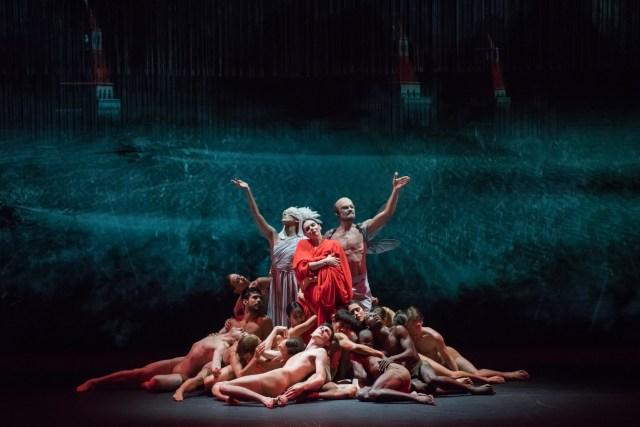 Segerstrom Center-Isadora-Emily Anderson as Terpshichore, Natalia Ospiova as Isadora, name as Lenin-by Doug Gifford