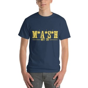 MASH 4077 Yellow Logo Tee Shirt