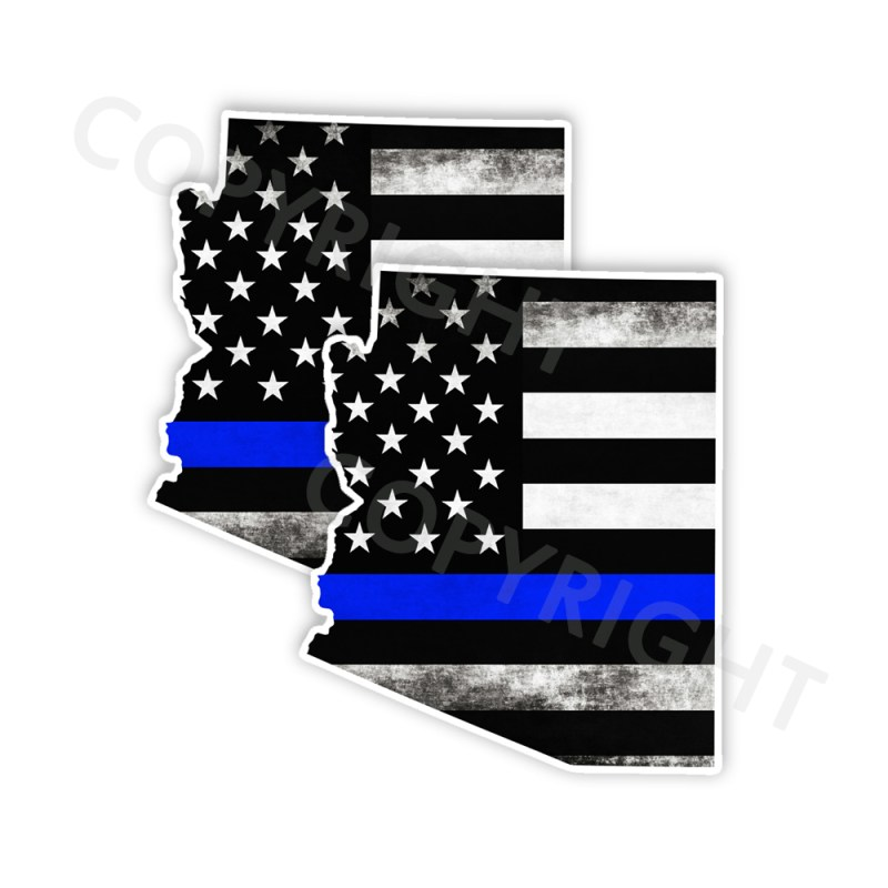 Thin Blue Line Arizona Bumper Stickers
