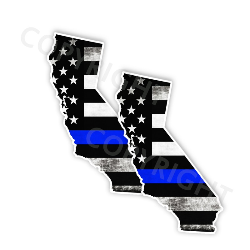 Thin Blue Line California Bumper Stickers