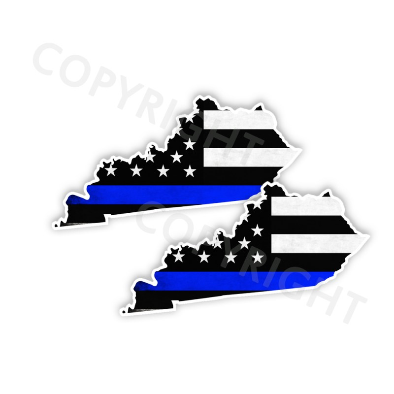 Thin Blue Line Kentucky Bumper Stickers