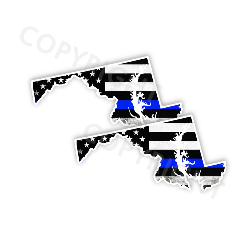 Thin Blue Line Maryland Bumper Stickers