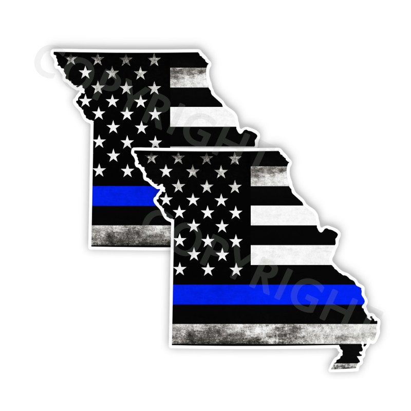 Thin Blue Line Missouri Bumper Stickers