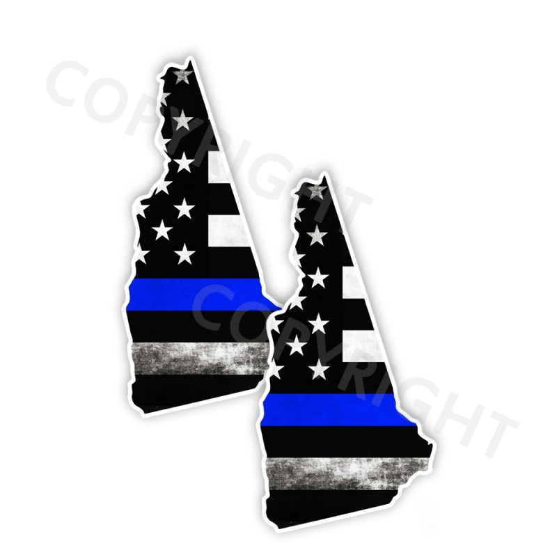 Thin Blue Line New Hampshire Stickers